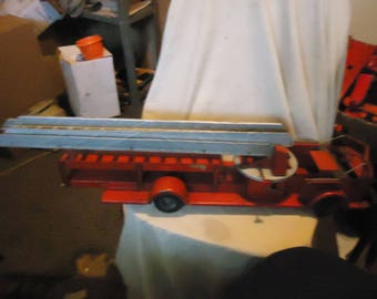 Vintage Rossmoyne Ross Moyne Wind Up Ariel Fire Truck Parts Piece, collectable