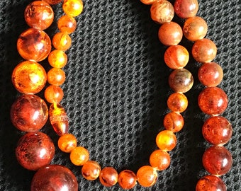 """Amber (Baltic) 24"""" Beaded Necklace"""