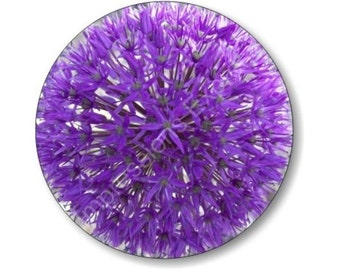 Purple Allium Flower Round Mousepad