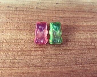 Gummy bear earrings, gummy bear, gummi bear, earrings, gift, present, birthday gift