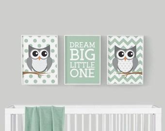 Nursery Decor - Owl Nursery Decor - Woodland Nursery Decor - Printable Art - Woodland Nursery Art - Owl Nursery Art -  Baby Nursery Decor