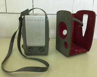 Vintage 1950s Anscoflex II Camera with Partial Leather Case, 1 Owner, Mid Century