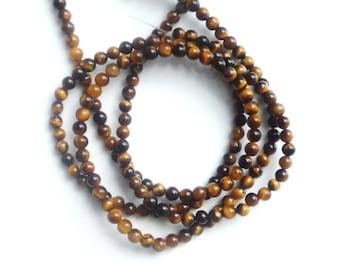 4mm Full strand Tiger eye round beads
