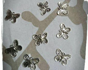 Silver Butterfly - design jewelry - lotx2 charm
