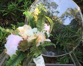 Succulent, blush peony, fern keepsake wedding bouquet, bridal bouquet, silk bouquet, flower bouquet, artificial bouquet