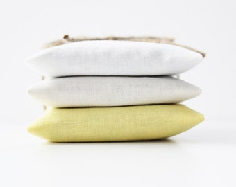 Lavender Drawer Sachets, Hygge Decor, Warm Yellow, Cream and White Sachet Bags Filled with Organic Lavender Buds