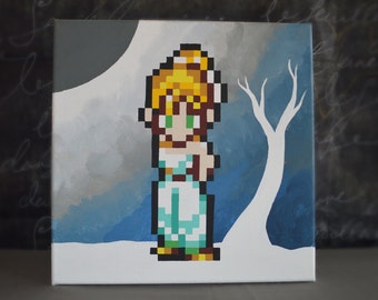 Marle from Chrono Trigger Painting
