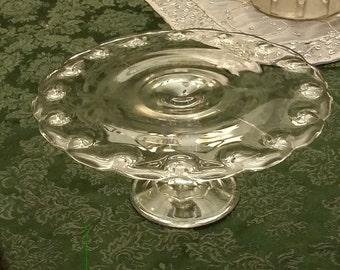 Indiana Glass Teardrop Cake Pedestal