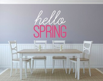 Hello Spring Easter Wall Quote