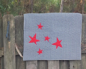 Baby playmat, Baby quilt, Red quilt, Black quilt