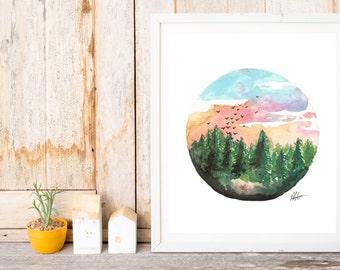 Sunset Sky Print