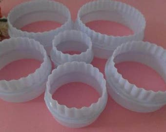 Box 6 molds cakes away Pieces round sand cake pastry cutters