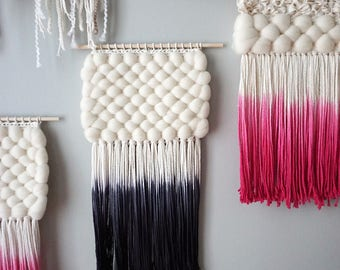 Woven Wall Hanging | Dip-Dyed Black Weaving