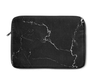 Black Marble  Laptop Sleeve, MacBook Case, Laptop Case, Carry Case, Laptop Bag