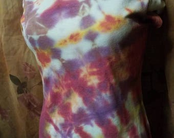 Hand Tied and Dyed Upcycled Scoop Neck Tee