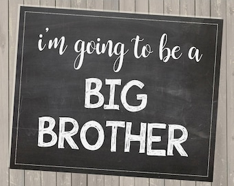 Big Brother Announcement *PRINTABLE* 8x10