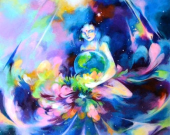 Goddess Mini Art Print Pack ~ Visionary Art ~ Visionary ~ Goddess ~ Psychedelic ~ Third Eye ~ Gaia ~ Meditation ~ Yoga ~ Mindfulness