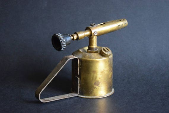 Antique blowtorch made in austria retro brass petrol blow
