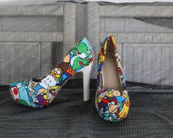 Mario Brother Themed Heels