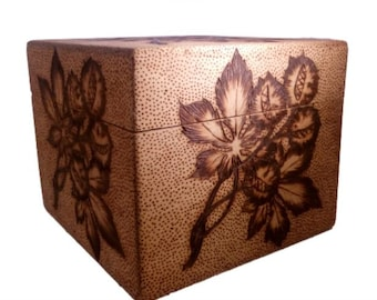"Box wood pyrography ""Chestnut"""