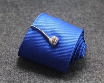 silver pipe  tie clip man tie clip wedding tie clip