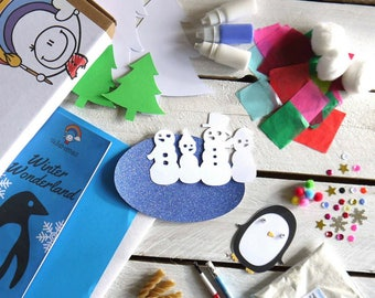 Craft Activity Box | Winter Wonderland Children's Craft Box, Kid's Craft, Craft Activities, Imaginative Craft Activities
