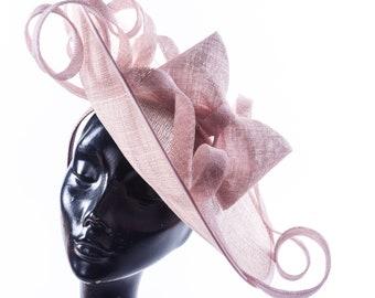 Baby pink saucer hat