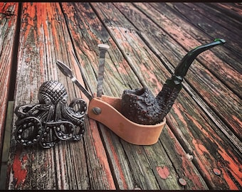Leather Pipe Stand/Tool Combo