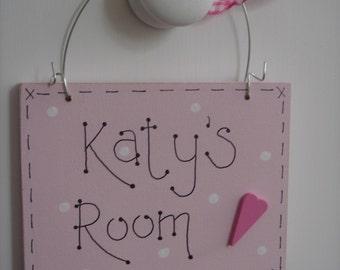 Personalised Children's Door Sign | Kids Room Plaque | Door Sign| Girl's Room Sign| Bedroom Door Hanger| Children's Door Sign| Boys Room