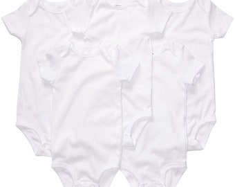 Blank White Baby Bodysuit Onesie Infant Baby White One piece Baby One piece - White Background Blank