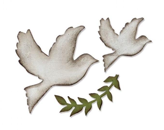 Sizzix Tim Holtz Bigz Die - Enchanted Doves 661607