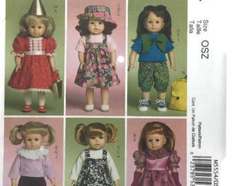 McCalls 18 Inch Doll Clothes Pattern 5554, Doll Clothing, Uncut Sewing Pattern