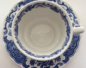 Ridgway, Vintage tasse de thé, tasse à thé bleu et blanc, Windsor, Made in England, vaisselle anglaise, de la vaisselle Vintage, bleu et blanc, des années 70 tasse de thé