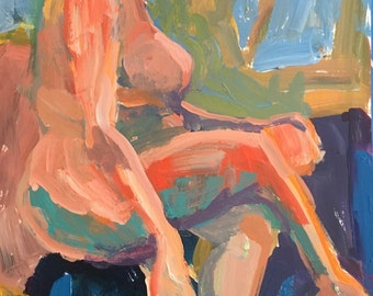 Abstract figuration, modernimpressionist,original painting, acrylic on paper, original acrylic, christineparker,fine art, art for buyers