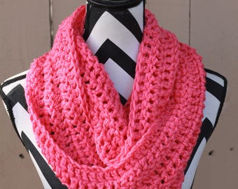 Ready to Ship Hot Pink Infinity Scarf
