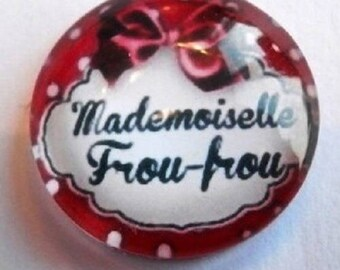 mademoiselle frou-frou (red) 25mm cabochon