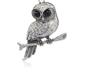 Rhinestone Owl Pendant - Sold Individually