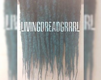 Crochet Synthetic Dreads Ombre Black/Turquoise Green