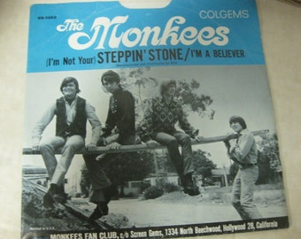 The Monkees I'm a Believer Picture Record Sleeve ONLY 45 RPM 1960