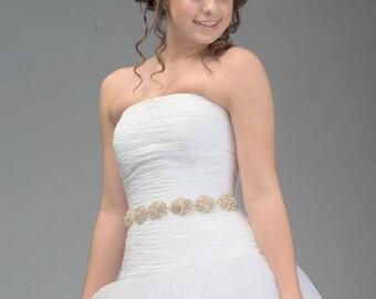 Swarovski Kristall und Zirkonia Braut Schärpe - Schärpe Swarovski - Swarovski-Belt - Hochzeits-Belt - Braut Schärpe - Hochzeit Bling - Victoria