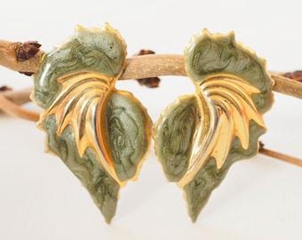 Vintage Enamel Earrings | Wing Jewelry | Pierced Earrings | Vintage Earrings | Vintage Jewelry | 1980s Jewelry | Enamel | 80s Earrings