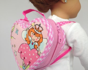 "18 Inch Doll Pink Backpack - Doll Accessories. Doll Accessories for 18"" dolls like Maplelea or American Girl."