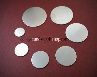 """150 of the 1"""" 14g aluminum discs"""