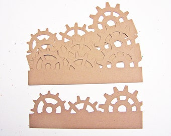 Tim Holtz On The Edge Steampunk Card Stock Set of 4