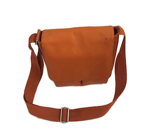 90s  Orange Bylin Cyber Purse Messenger