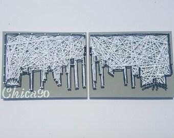 Chicago Skyline | String Art | Chicago | Gift | Wall Art