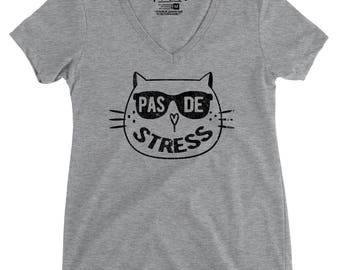No STRESS - V-Neck T-Shirt