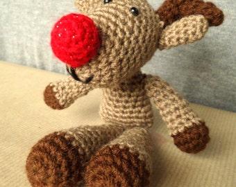 Amigurumi Reindeer Christmas Character  Decoration