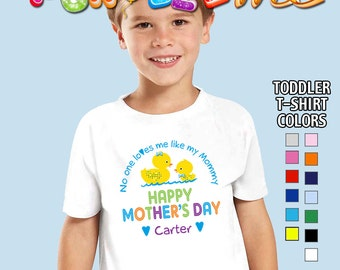 Happy Mother's Day T-Shirt - No One Loves me Like my Mommy - Boys - Toddler - Personalized with Name
