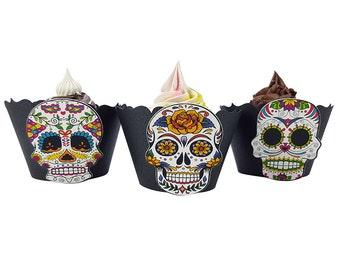 Dia de los Muertos Decor - Multiple Designs - Cupcake Wrappers - Premium Cardstock